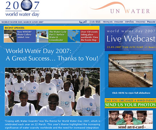 World Water Day 2007 FAO
