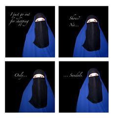 shoes2.jpg (The Art of Veiling) Tags: blue black shoes veiled veil hijab niqab