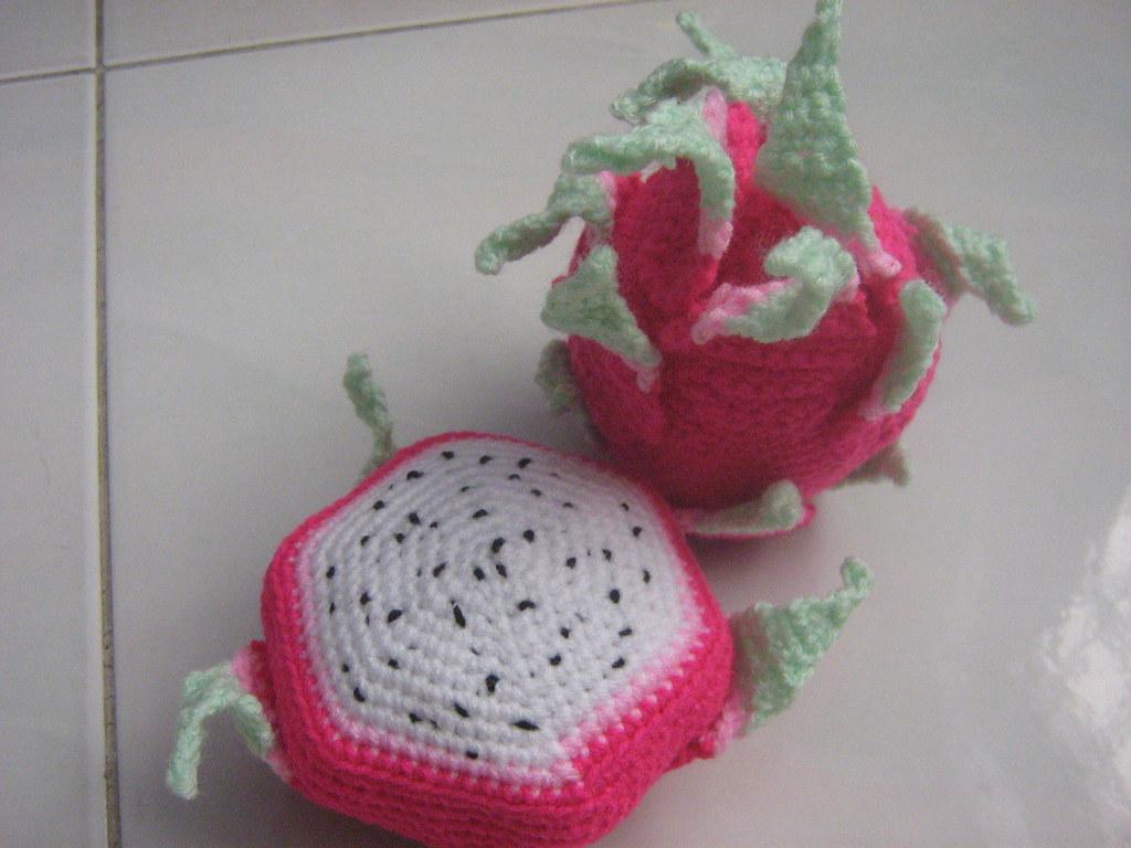 Amigurumi Fruit Crochet Patterns : dragon fruit amigurumi pattern KnitHacker