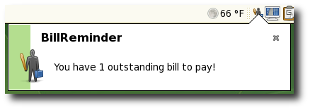 BillReminder:  Notification