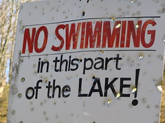 No Swimming in this part of the lake! (SeeMidTN.com (aka Brent)) Tags: sign nashville lakelouise noswimming nashvilletn nashvilletennessee bmok bmok2 bmoknvsign