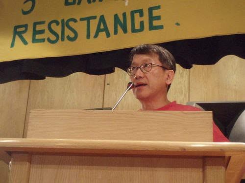 Activist Choi Il-bung (Photo by Hossam el-Hamalawy)