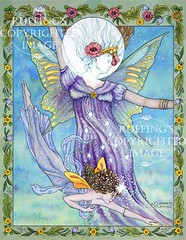 """""""Moon and Star"""" Fairy Watercolor by Elizabeth Ruffing"""