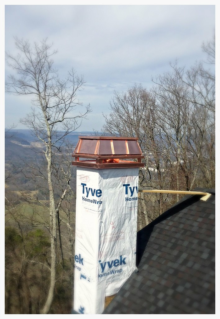 Custom Copper Chimney Shroud. Chattanooga, Tn.