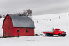 Red Truck Red Barn (Pedalhead'71) Tags: colton washington red barn truck snow palouse winter