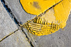 Impression-ism (Chris Huddleston) Tags: spill paint impression parkingarea puddle abstract concrete yellow noperson tire