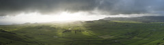 Wake up in a patchwork. (biktoras07) Tags: portugal azores terceira island patchwork mantaderetalhos panorama green outdoor outside nature winter light clouds serradocume wakeupinapatchwork wakeup morning sunrise field grass pastures sea sky atlantic ocean victorsantos
