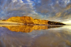 Don't leave me here alone (pauldunn52) Tags: southerndown beach dunraven park glamorgan heritage coast wales clouds reflection witch splint
