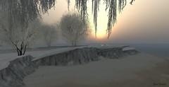 Winter Sunset (msbooodoolittle) Tags: winter secondlife snow frisland