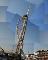 Spinnaker Tower Composite (Bucky O'Hare) Tags: uk blue sea england sky building tower art composite architecture null coast artistic landmark coastal portsmouth layer british spinnaker effect spinaker layered
