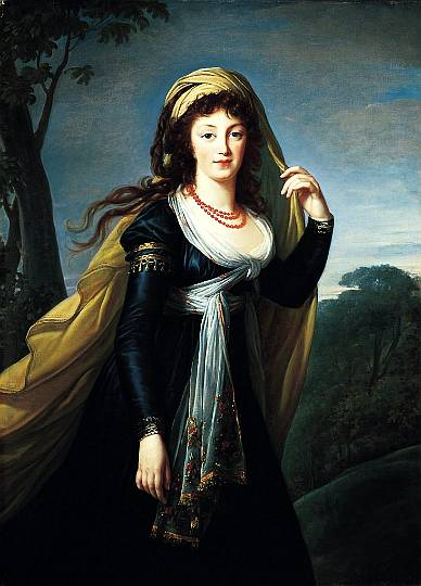 Marie-Louise Lebrun, Portrait of Theresa, Countess Kinsky, 1793
