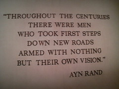 Ayn Rand quote, American Adventure, Epcot Cent...