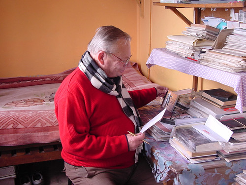 Ruskin Bond at His Desk