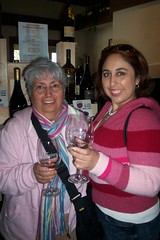 my mom and sis at the winery