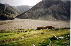 Alluvial fan in the Pamirs (mm-j) Tags: mountain archive meadow valley tajikistan alluvialfan pamirs murgab badakshan xorog scanfromprints
