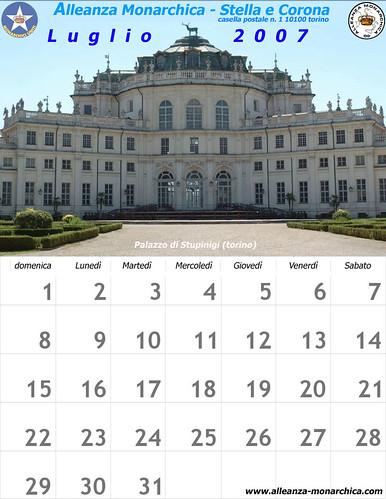 Calendario luglio 2007
