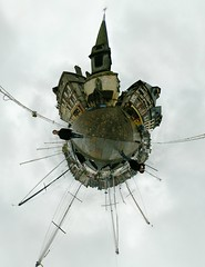 The Global Village (Man) Tags: sea panorama france church rain sailboat port boat rainyday gimp 360 full explore sail handheld honfleur normandy 360x180 spherical planetoid hugin enblend interestingness131 i500 littleplanet manuperez planetoids