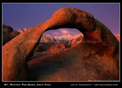 Mt. Whitney Pre-Dawn, Arch View