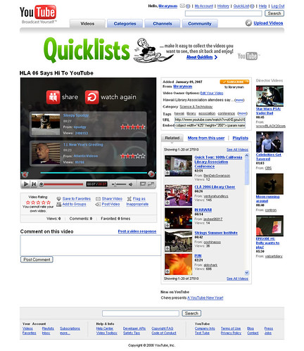 youtube: quick list ad