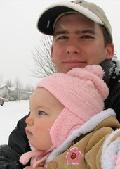 Miriam's First Snow - With Dad