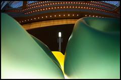 Different angle (Sunbound) Tags: light sculpture green glass yellow japan tokyo soft pentax ds fisheye da shape ist legolas yurakucho sunbound 1117mm svärdsäter