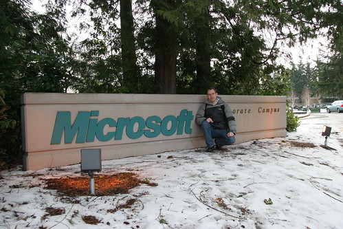 Me at a Microsoft sign