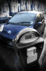 P2:00 (MrGiles) Tags: street london car photoshop time parking citroen dreamy dreamscape eos30d