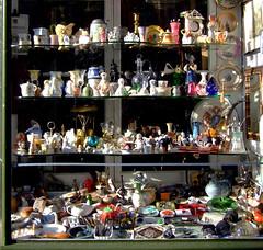 Shop-window: bric-a-brac for sale (chrisjohnbeckett) Tags: china street forsale display antique souvenir pottery shopwindow value secondhand trade porcelain residue knickknacks bricabrac objets oddsandends enmasse chrisbeckett