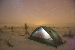 Star light, Star Bright (dcumminsusa) Tags: camping camp white newmexico monument night stars nightshot tent national backpacking sands startrails whitesandsnationalmonument strobist ohbeautifulforspaciousskies
