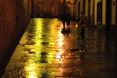 City light (chri_sti_an) Tags: light evening santiagodecompostela fv10 wetstreet anawesomeshot