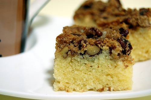 Pecan Coffee Cake Closeup
