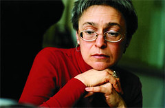 Russian journalist Anna Politkovskaya in an undated photo