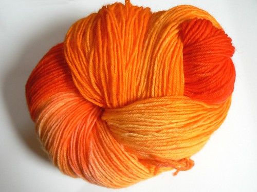 orange KoolAided yarn