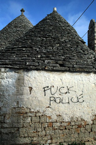 Graffiti makes it to Alberobello