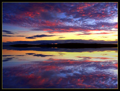 Dusk over the Isle of Cumbrae (edowds) Tags: sunset sky clouds scotland riverclyde natural dusk breathtaking ayrshire largs isleofcumbrae instantfave scoreme46 flickrscorer21 picswithframes 5bangs flickrchallengegroup flickrchallengewinner 15challengeswinner spectacularsunsetsandsunrises