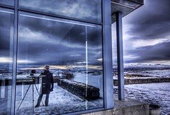Stuck In Iceland (Stuck in Customs) Tags: sunset selfportrait snow photography iceland nikon photographer plate ridge thingvellir hdr trey highquality stuckincustoms techtonics treyratcliff focuspocus2
