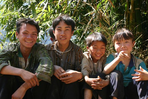 Boys near Tam Doung. NW Vietnam.
