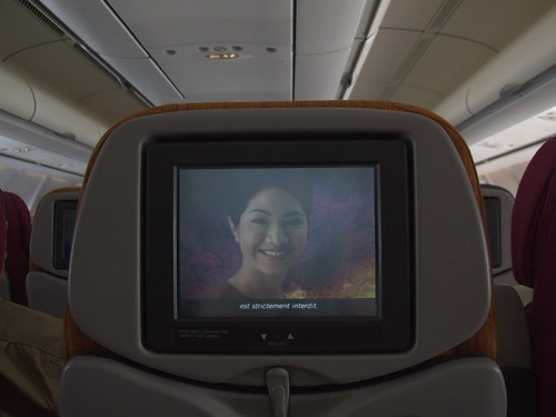 Cabina turista en Thai Airways