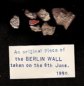 Berlin Wall souvenir of 1990