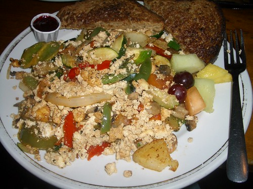 Scrambled Tofu at The Naam, Vancouver, BC