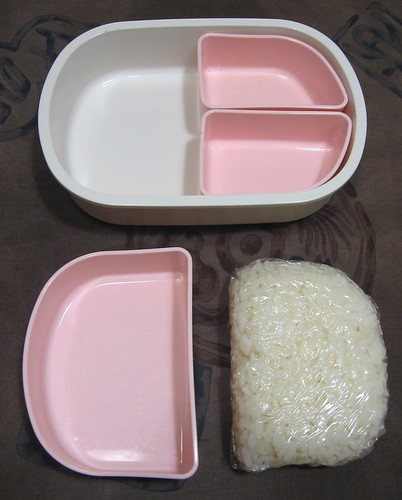 Freezing rice for bento