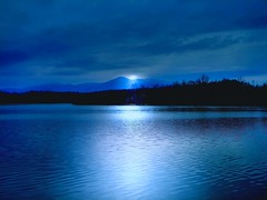 Blue Dusk ( D L Ennis) Tags: blue lake mountains nature evening virginia dusk falls across blueridge takeflight abigfave diamondclassphotographer