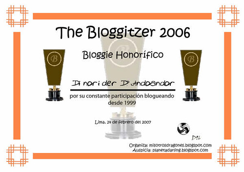 diploma honorifico THE BLOGGITZER 2006