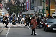Overcrowded Niigata Bandai Area