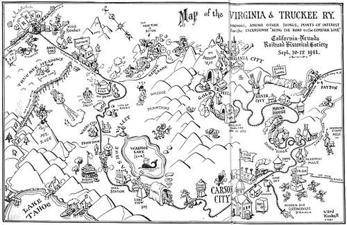 Ward Kimball V&T Map
