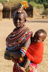 Samburu mother and child (imanh) Tags: africa portrait people woman color colors village child kenya mother afrika portret samburu kenia dorp stam kleurrijk iman kleuren heijboer imanh