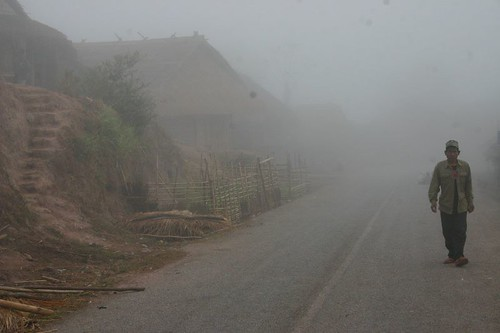 Misty morning in Ban Hinlak Village