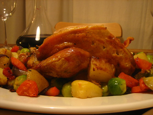 Guinea fowl and Winter vegetables
