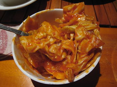 Cabbage in chili sauce