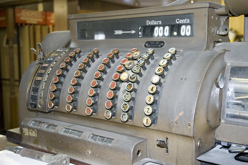 Oxford Lumber 1930s Cash Register